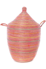 Swahili African Modern Sunrise Stripes Large Laundry Hamper Basket Swahili African Modern -15350019457087