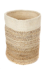 Swahili African Modern Tall Natural Sisal and Banana Fiber Twill Basket Swahili African Modern -14999745101887