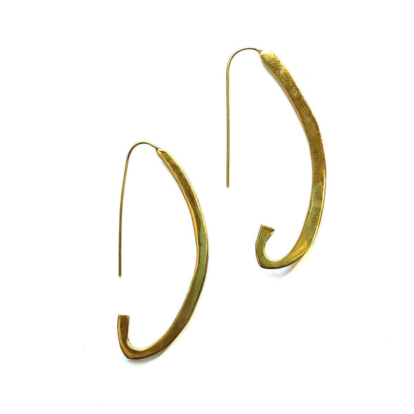 Swahili Coast Design Crescent Earrings Jewelry Swahili Coast Design