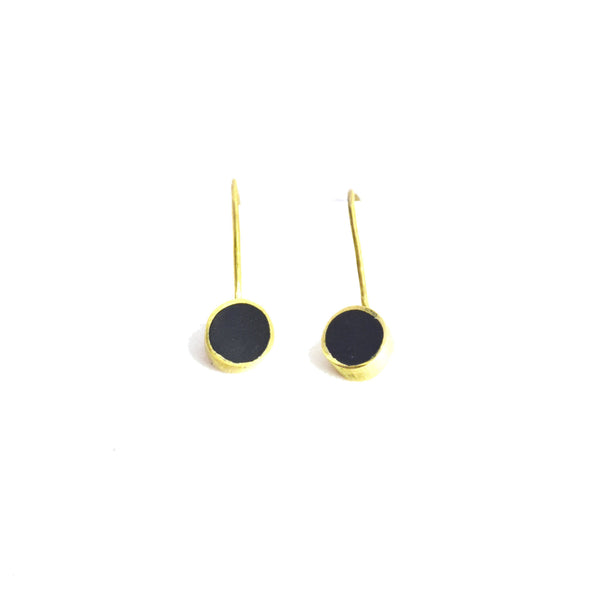 Swahili Coast Design Horn Dot Earrings Jewelry Swahili Coast Design