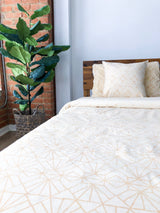 Symbology Art Deco/Baby Cacti Reversible Duvet Cover in Cream + Tan Home Decor Symbology-13301468823615