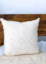 Symbology Art Deco/Baby Cacti Reversible Pillowcase in Cream + Tan Home Decor Symbology-13301453553727