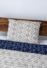 Symbology Art Deco/Baby Cacti Reversible Sham in Navy + Cream Home Decor Symbology-13301531443263