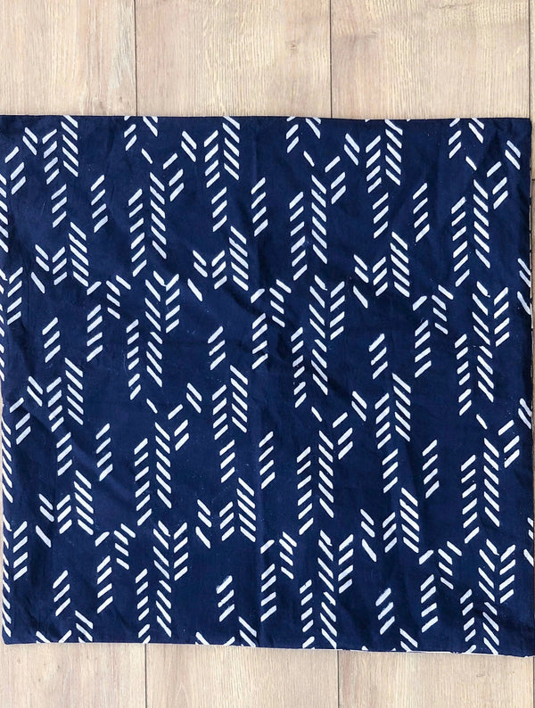 Symbology Art Deco/Baby Cacti Reversible Sham in Navy + Cream Home Decor Symbology