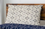 Symbology Art Deco/Baby Cacti Reversible Sham in Navy + Cream Home Decor Symbology-13301467381823