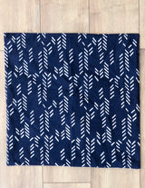 Symbology Art Deco/Stylized Feather Reversible Pillowcase in Navy + Cream Home Decor Symbology-13301480915007