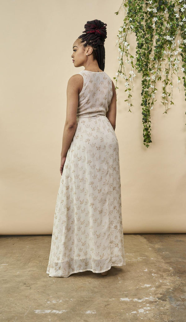 Symbology Ginkgo Leaf Maxi Wedding Dress | Ethical Wedding Dresses Wedding Dress Symbology