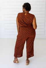 Symbology Leopard Sleeveless Jumpsuit - Sierra and Black Jumpsuits Symbology-14950064488511