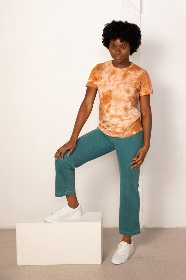 Taylor Tie Dye Organic Cotton Tee - Amber Top North of West