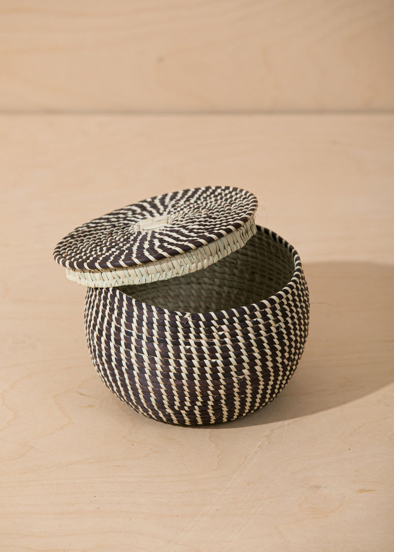 Territory Design Millet Lidded Basket Home Territory Design