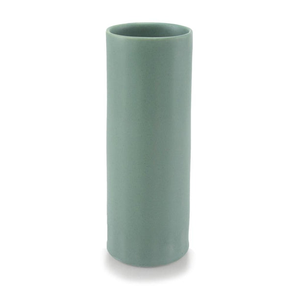 The Bright Angle Bloom Porcelain Vase - Rosemary Green Satin Matte Vase The Bright Angle
