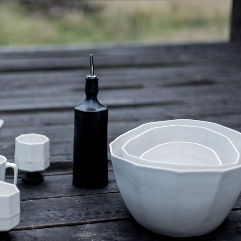 The Bright Angle Elixir Olive Oil Bottle - Silk White Tableware The Bright Angle