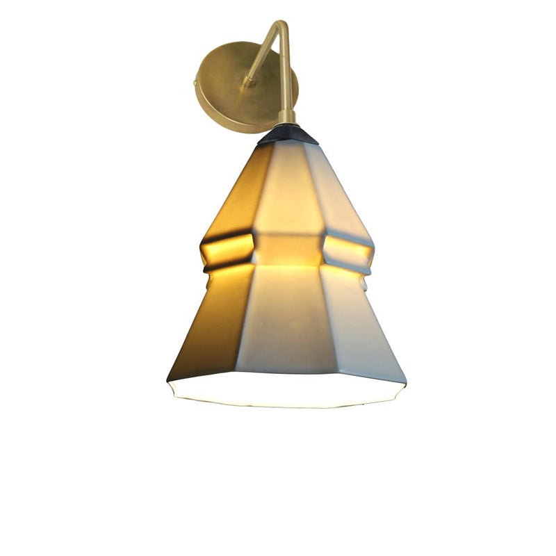 The Bright Angle Expansion 3 Porcelain Wall Sconce Wall Sconce The Bright Angle