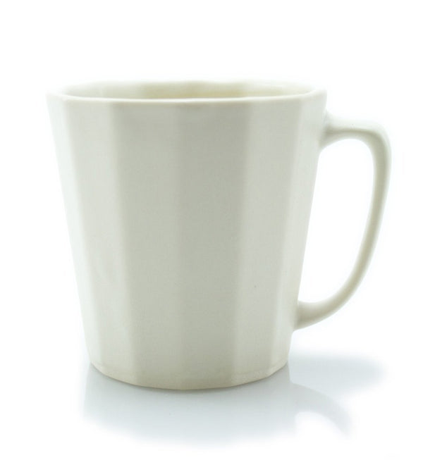 The Bright Angle Monday Mug - Silk White Satin Matte Coffee The Bright Angle