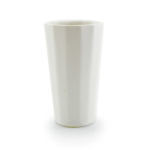The Bright Angle Porcelain Pint Cup - Silk White Satin Matte Tableware The Bright Angle