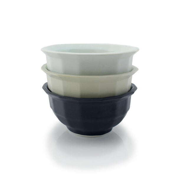 The Bright Angle Soup Bowl - Smoke Gray Satin Matte Tableware The Bright Angle