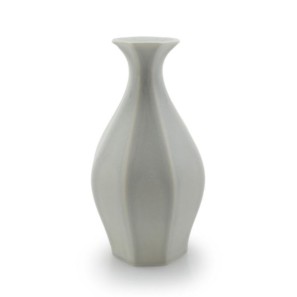 The Bright Angle Table Vase - Smoke Gray Satin Matte Vase The Bright Angle