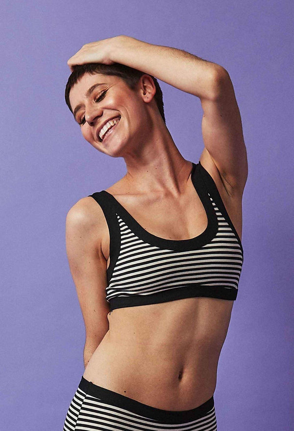 Thunderpants USA Women's Bralette Jail Stripe Thunderpants Thunderpants USA