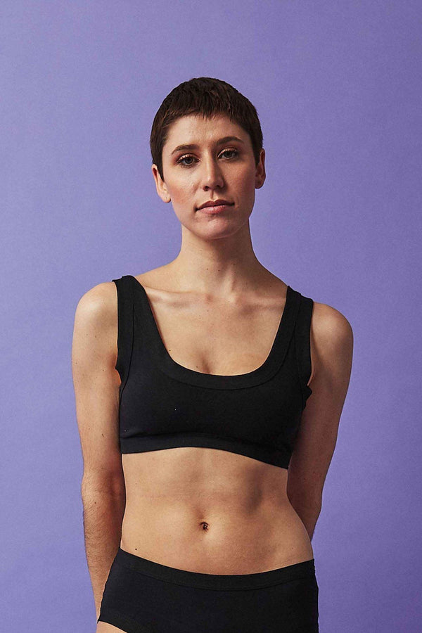 Thunderpants USA Women's Bralette Plain Black Thunderpants Thunderpants USA
