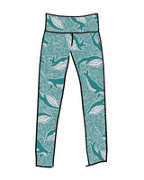 Thunderpants USA Women's High Rise Leggings Marine Whales Leggings Thunderpants USA-14535742554175
