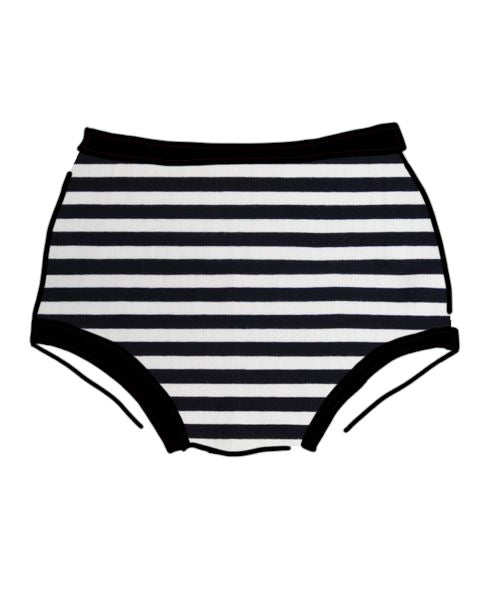 Thunderpants USA Women's Original Black and White Stripe Undies Thunderpants Thunderpants USA