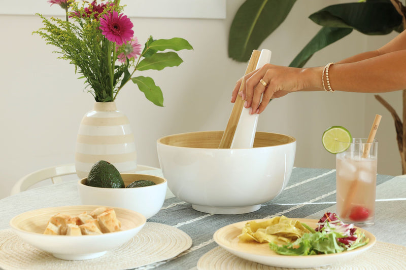 Tia Salad Server - Blanc Bibol