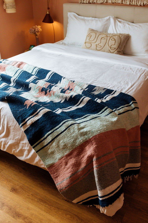 Tierra Upcycled Blanket - Higo Home Decor Nipomo