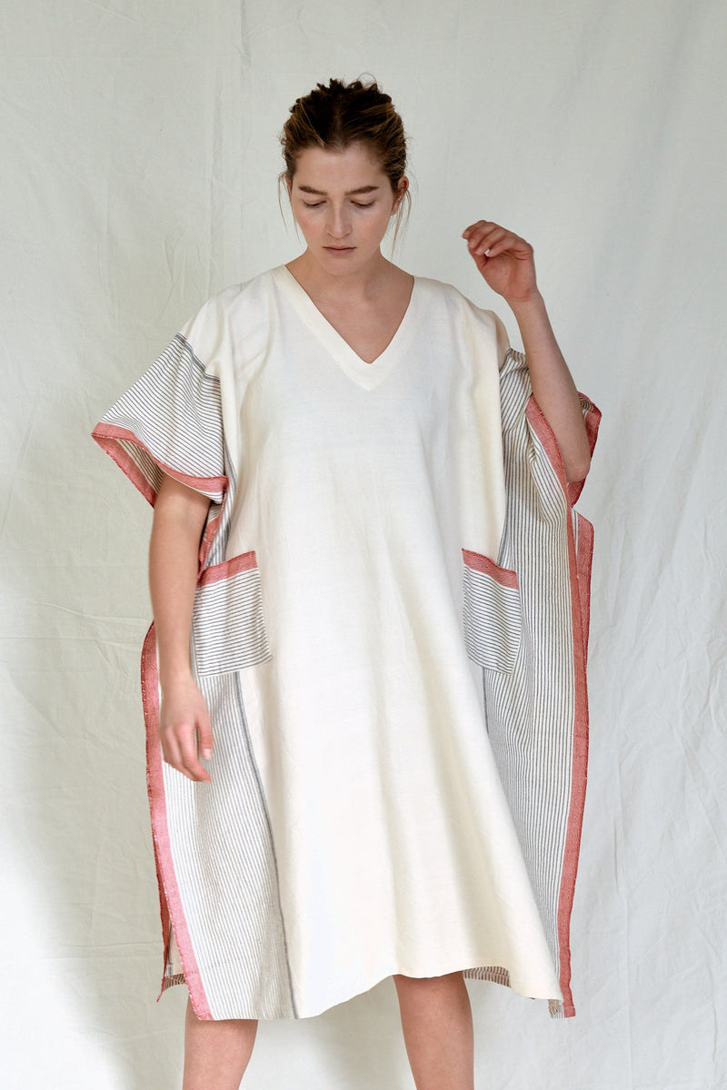 Tribeca Turkish Tunic - Ivory + Cherry Women's Clothing Home & Loft