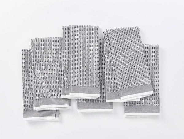 Waffle Kitchen Towel Set - Shadow Kitchen Coyuchi