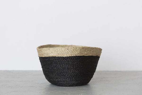 Will & Atlas Jute Bowl - Charcoal with Natural Trim Home Decor Will & Atlas