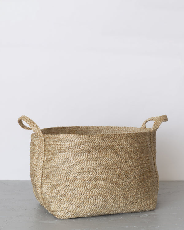 Will & Atlas Large Jute Basket - Natural Home Decor Will & Atlas