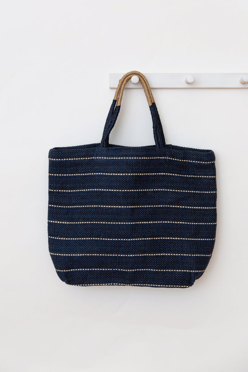 Will & Atlas Marin Jute Shopper - Indigo Will & Atlas