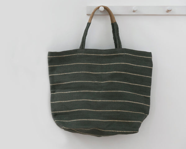 Will & Atlas Marin Jute Shopper - Slate Bags Will & Atlas