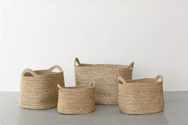 Will & Atlas Oval Jute Baskets - Natural Will & Atlas