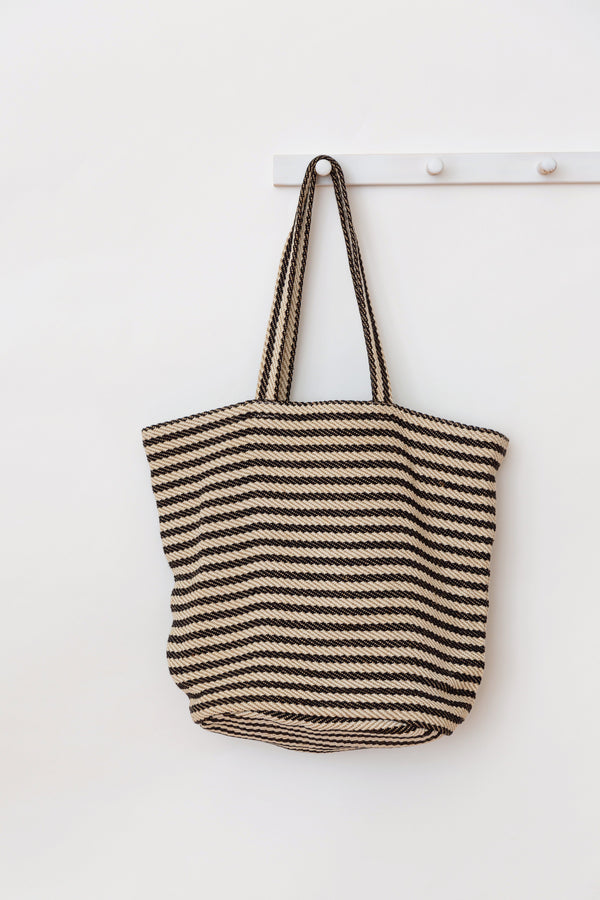 Will & Atlas Paris Striped Tote - Black & White Will & Atlas