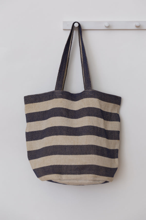 Will & Atlas Provence Striped Tote - Indigo & White Accessories Will & Atlas
