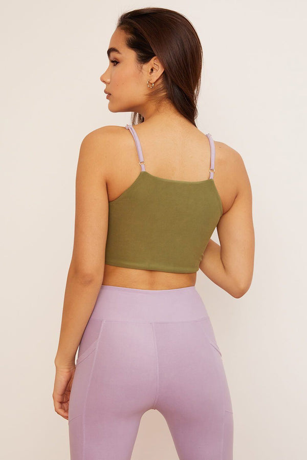 Wolven Crisscross Four-Way Top | Lavender Tops Wolven
