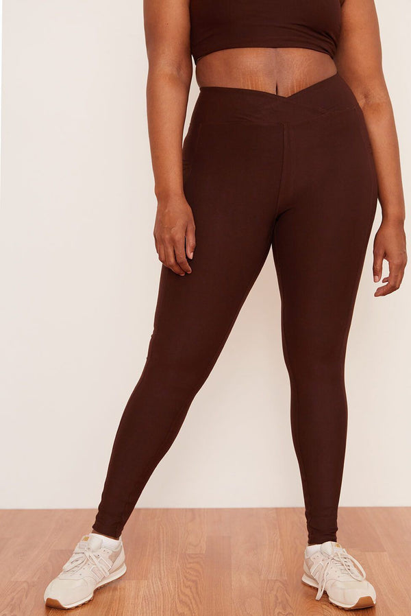 Wolven Crossover Pocket Legging | Chai Legging Wolven