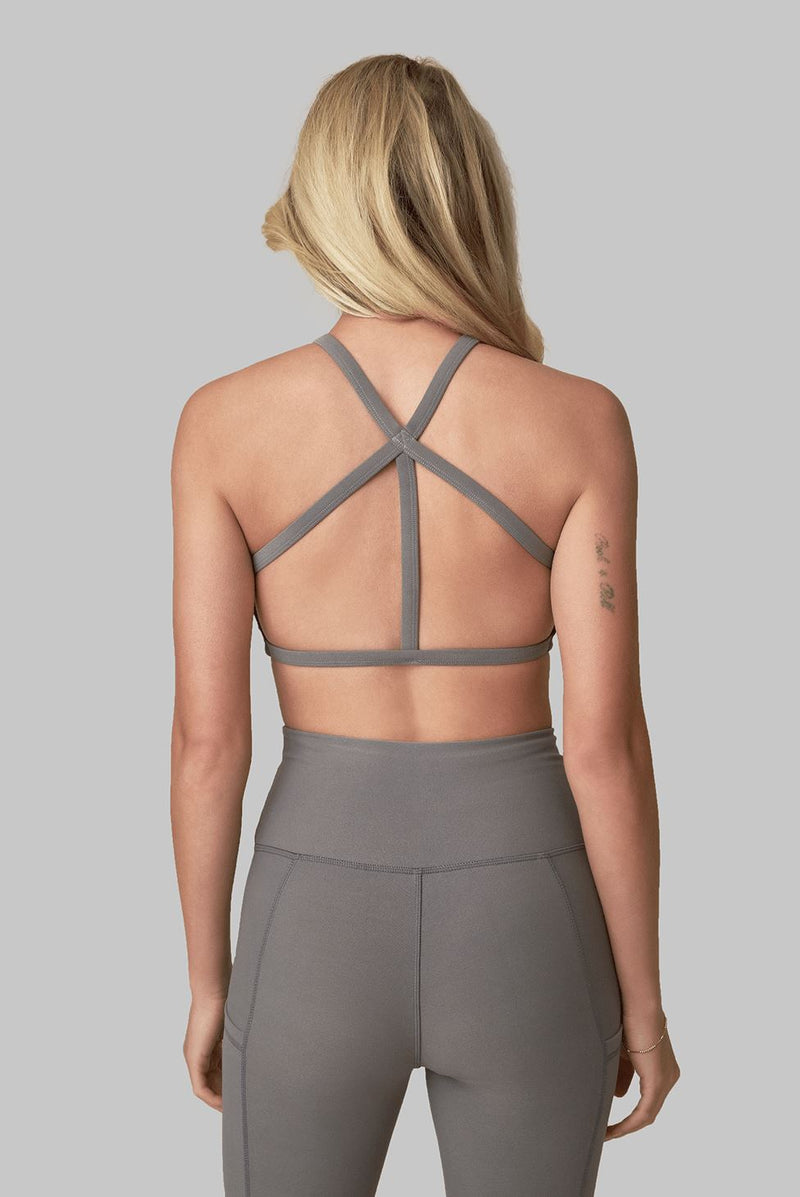 Wolven Pyramid Top - Wolf Gray Tops WOLVEN