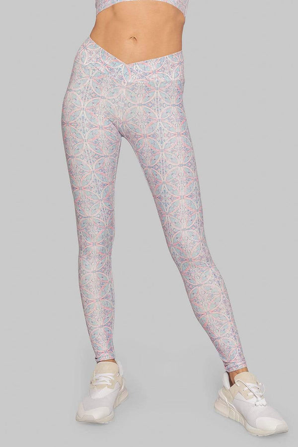 WOLVEN Riviera Ruched Crossover Legging Legging WOLVEN