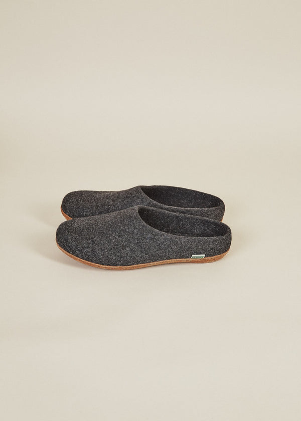 Women's All Natural Molded Sole Low Back Slippers - Charcoal Natural Soles Kyrgies