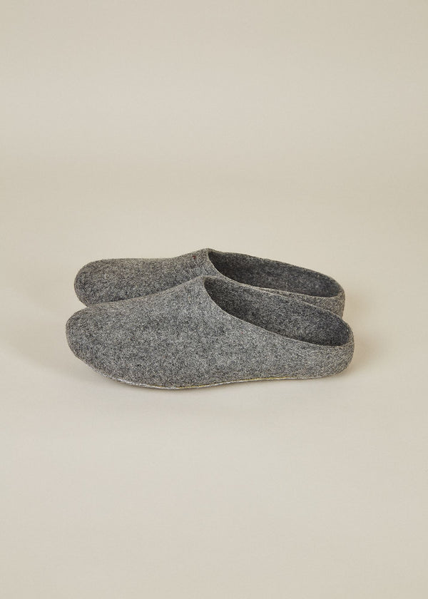 Women's Classic Low Back Wool Slippers - Gray Women's Shoes Kyrgies