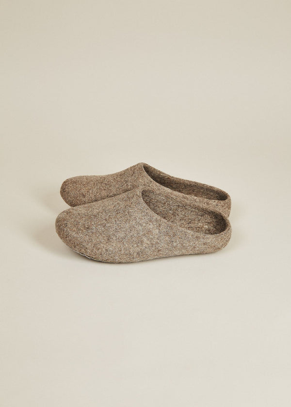 Women's Classic Low Back Wool Slippers - Oatmeal Women's Shoes Kyrgies