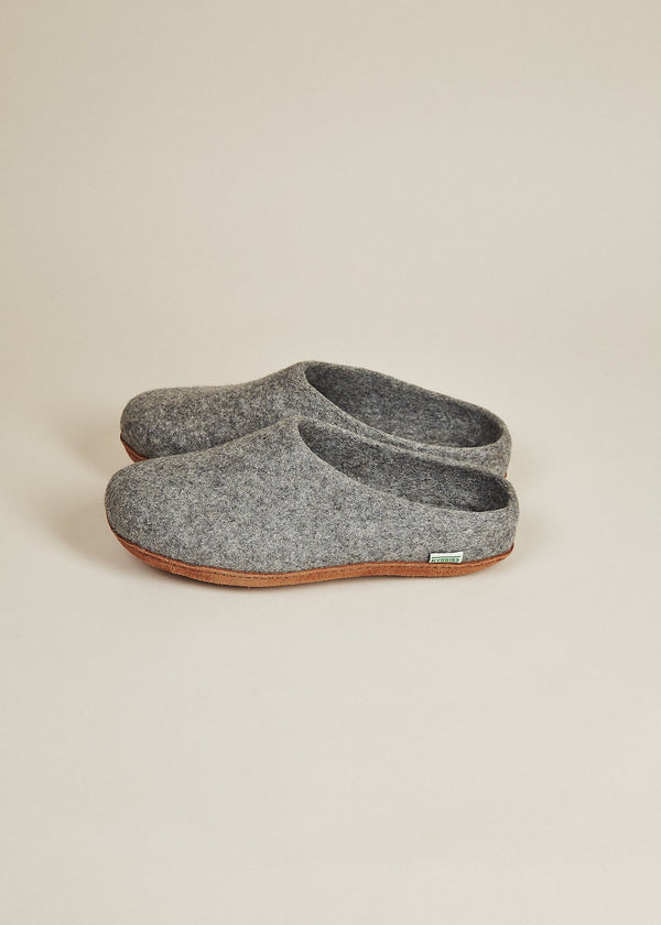 Women's Low Back and Molded Sole Slippers - Gray Women's Shoes Kyrgies