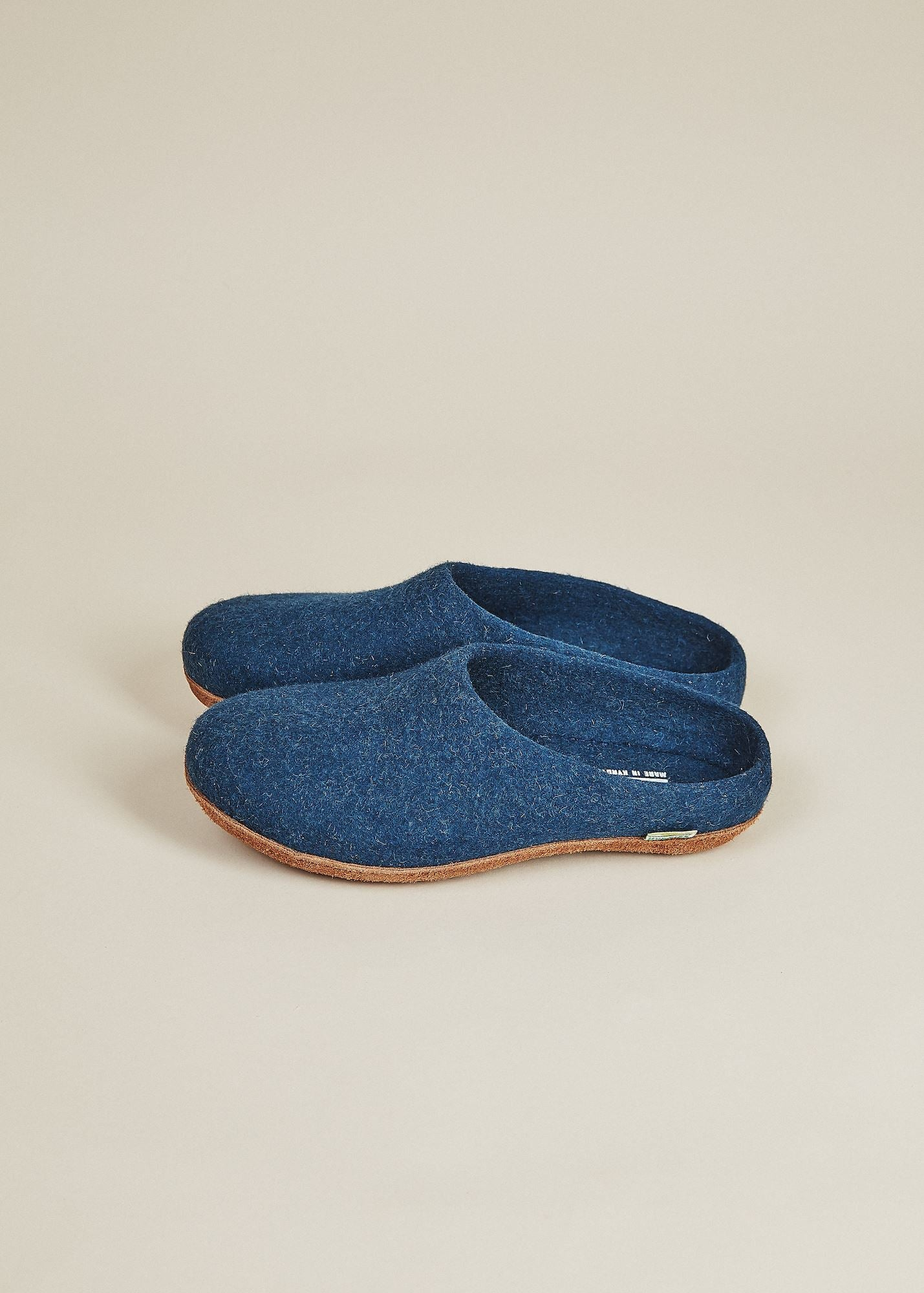 Women's Low Back and Molded Sole Slippers - Navy Women's Shoes Kyrgies