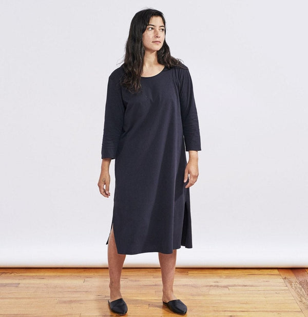 Women's Solstice Organic Nightgown - Deep Graphite Coyuchi