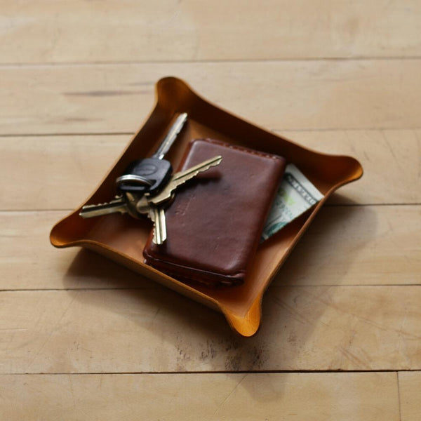 Zemper Goods Leather Catchall - Gold Zemper Goods