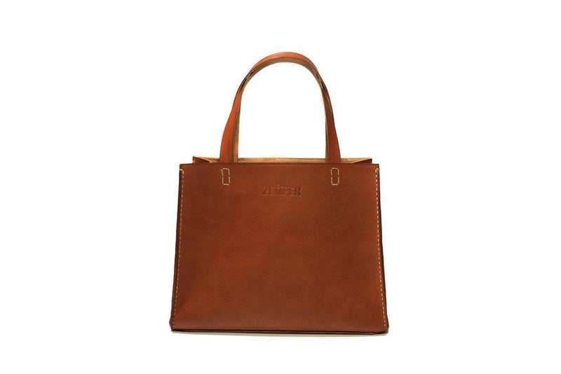 Zemper Goods Small Tote - Saddle Tan Zemper Goods