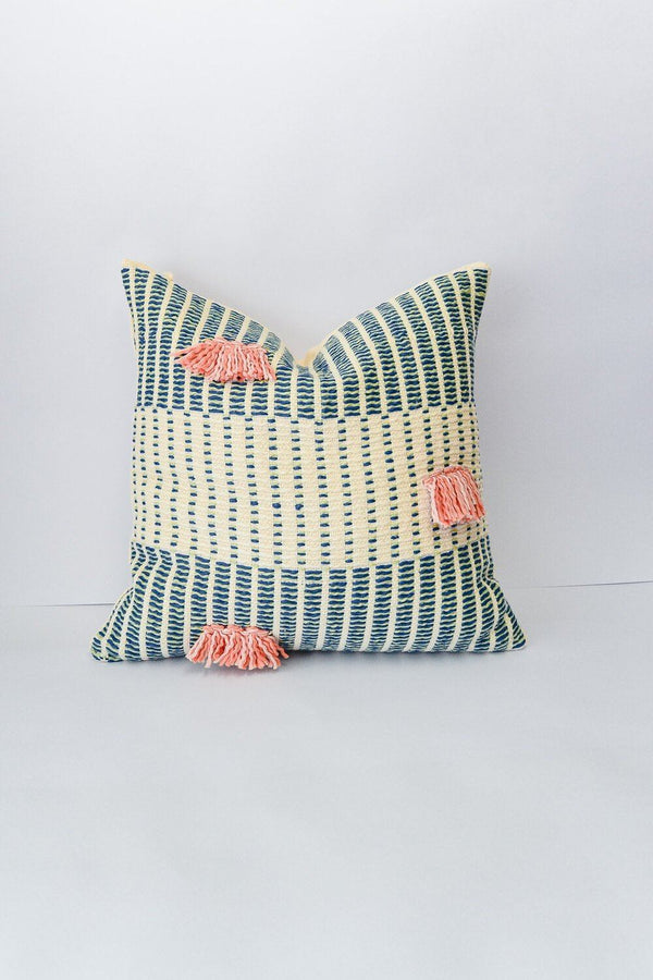 Zuahaza Salento Pillow - Indigo and Apricot Zuahaza