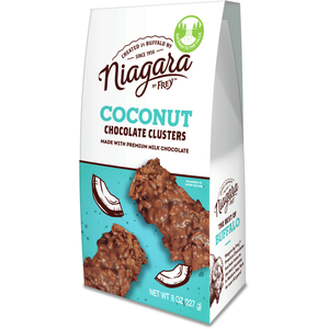 Coconut Clusters | 8 oz - Niagara by Frey, Premium Chocolate